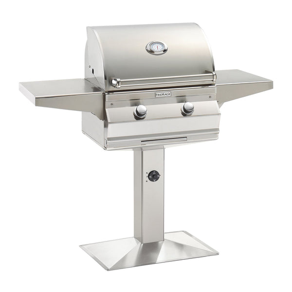 Fire Magic Choice C430i 24-Inch Propane Gas Patio Post Mounted Grill w/ Analog Thermometer - C430S-RT1P-P6
