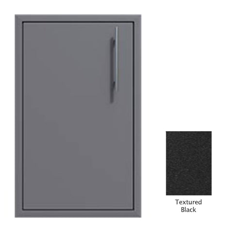 "Canyon Series 18""w by 29""h Single Door Enclosure w/ Adj. Shelf (Left Hinge) In Textured Black - CAN001-F01-LftHng-TexturedBlack"