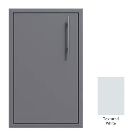 "Canyon Series 18""w by 29""h Single Door Enclosure w/ Adj. Shelf (Left Hinge) In Textured White - CAN001-F01-LftHng-TexturedWhite"