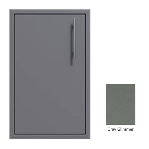 "Canyon Series 18""w by 29""h Single Door Enclosure w/ Adj. Shelf (Left Hinge) In Grey Glimmer - CAN001-F01-LftHng-TexturedGreyGlimmer"