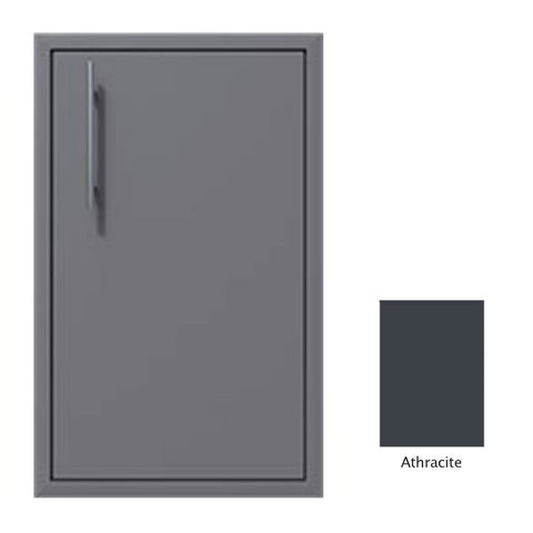 "Canyon Series 18""w by 29""h Single Door Enclosure w/ Adj. Shelf (Right Hinge) In Anthracite - CAN001-F01-RghtHng-Anthracite"