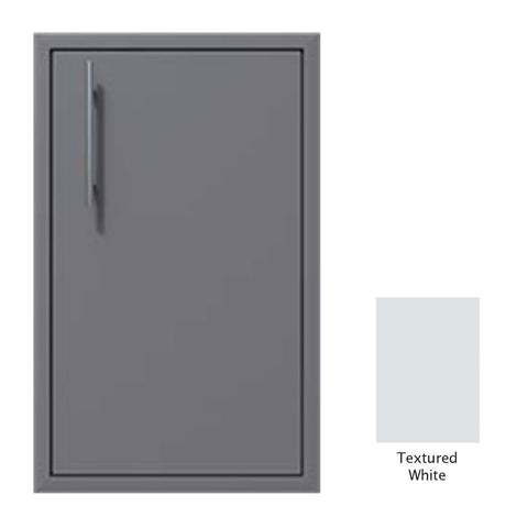 "Canyon Series 18""w by 29""h Single Door Enclosure w/ Adj. Shelf (Right Hinge) In Textured White - CAN001-F01-RghtHng-TexturedWhite"