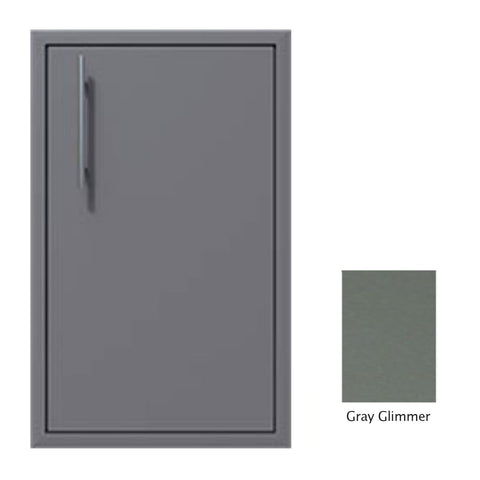 "Canyon Series 18""w by 29""h Single Door Enclosure w/ Adj. Shelf (Right Hinge) In Grey Glimmer - CAN001-F01-RghtHng-TexturedGreyGlimmer"