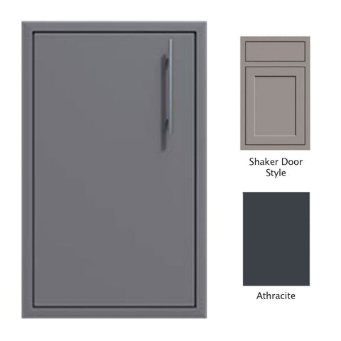 "Canyon Series Shaker Style 18""w by 29""h Single Door Enclosure w/ Adj. Shelf (Left Hinge) In Anthracite - CAN001-F01-Shaker-LftHng-Anthracite"