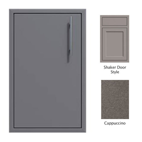"Canyon Series Shaker Style 18""w by 29""h Single Door Enclosure w/ Adj. Shelf (Left Hinge) In Cappuccino - CAN001-F01-Shaker-LftHng-Cappuccino"