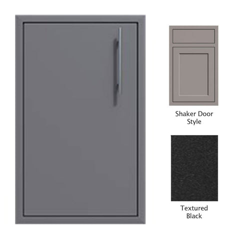 "Canyon Series Shaker Style 18""w by 29""h Single Door Enclosure w/ Adj. Shelf (Left Hinge) In Textured Black - CAN001-F01-Shaker-LftHng-TexturedBlack"