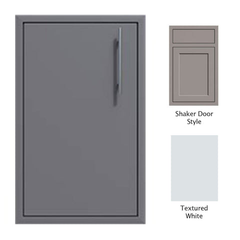 "Canyon Series Shaker Style 18""w by 29""h Single Door Enclosure w/ Adj. Shelf (Left Hinge) In Textured White - CAN001-F01-Shaker-LftHng-TexturedWhite"