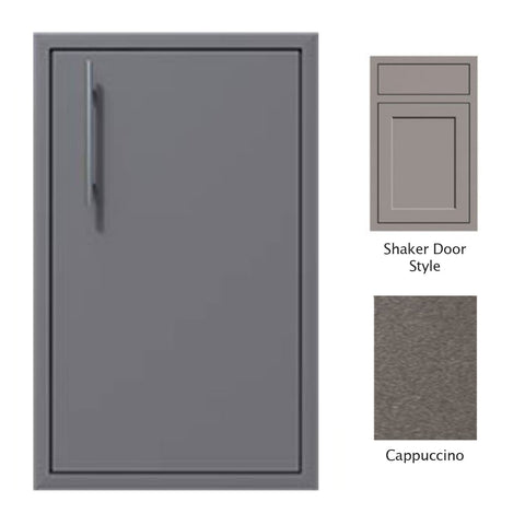 "Canyon Series Shaker Style 18""w by 29""h Single Door Enclosure w/ Adj. Shelf (Right Hinge) In Cappuccino - CAN001-F01-Shaker-RghtHng-Cappuccino"