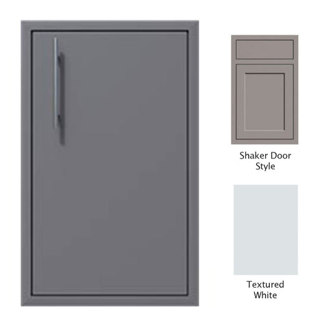 "Canyon Series Shaker Style 18""w by 29""h Single Door Enclosure w/ Adj. Shelf (Right Hinge) In Textured White - CAN001-F01-Shaker-RghtHng-TexturedWhite"