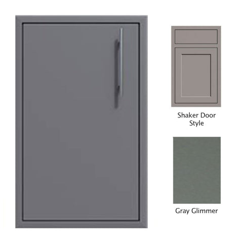 "Canyon Series Shaker Style 18""w by 29""h Single Access Door (Left Hinge) In Grey Glimmer - CAN001-F02-Shaker-LftHng-TexturedGreyGlimmer"