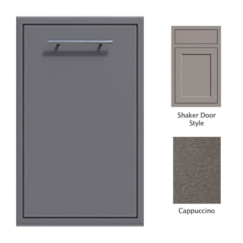 "Canyon Series Shaker Style 18""w by 29""h Trash Pullout Drawer Enclosure (Bin Included) In Cappuccino - CAN001-F04-Shaker-Cappuccino"