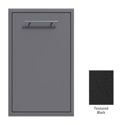 "Canyon Series 18""w by 29""h Trash Pullout Drawer Enclosure (Bin Included) In Textured Black - CAN001-F04-TexturedBlack"