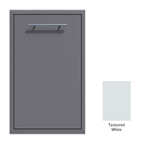 "Canyon Series 18""w by 29""h Trash Pullout Drawer Enclosure (Bin Included) In Textured White - CAN001-F04-TexturedWhite"