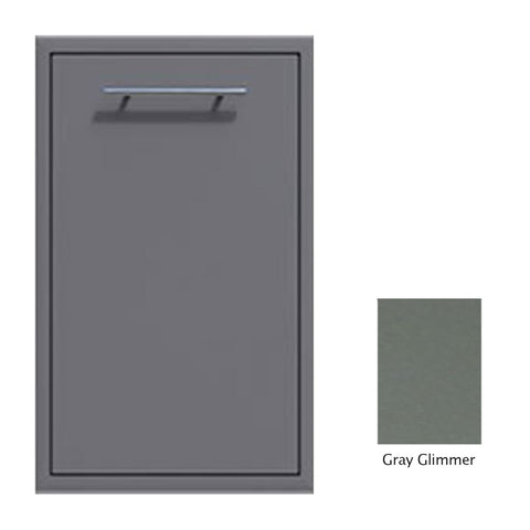 "Canyon Series 18""w by 29""h Trash Pullout Drawer Enclosure (Bin Included) In Grey Glimmer - CAN001-F04-TexturedGreyGlimmer"