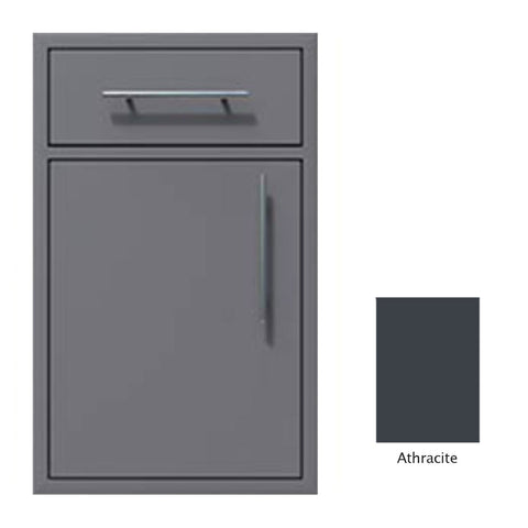 "Canyon Series 18""w by 29""h Single Door, Drawer Enclosure w/ Adj. Shelf (Left Hinge) In Anthracite - CAN002-F01-LftHng-Anthracite"