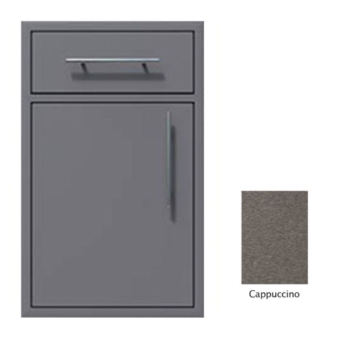 "Canyon Series 18""w by 29""h Single Door, Drawer Enclosure w/ Adj. Shelf (Left Hinge) In Cappuccino - CAN002-F01-LftHng-Cappuccino"