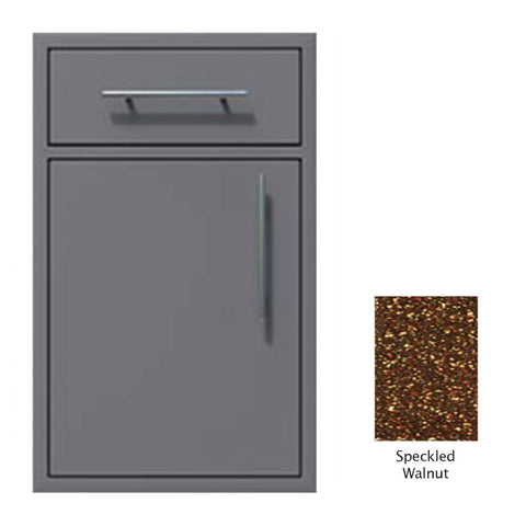 "Canyon Series 18""w by 29""h Single Door, Drawer Enclosure w/ Adj. Shelf (Left Hinge) In Speckled Walnut - CAN002-F01-LftHng-SpeckWalnut"