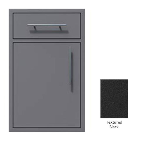 "Canyon Series 18""w by 29""h Single Door, Drawer Enclosure w/ Adj. Shelf (Left Hinge) In Textured Black - CAN002-F01-LftHng-TexturedBlack"