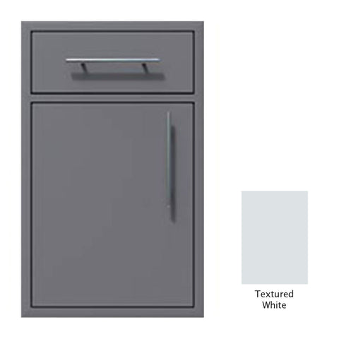 "Canyon Series 18""w by 29""h Single Door, Drawer Enclosure w/ Adj. Shelf (Left Hinge) In Textured White - CAN002-F01-LftHng-TexturedWhite"