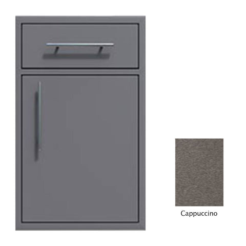 "Canyon Series 18""w by 29""h Single Door, Drawer Enclosure w/ Adj. Shelf (Right Hinge) In Cappuccino - CAN002-F01-RghtHng-Cappuccino"