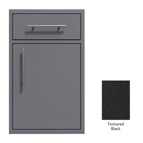 "Canyon Series 18""w by 29""h Single Door, Drawer Enclosure w/ Adj. Shelf (Right Hinge) In Textured Black - CAN002-F01-RghtHng-TexturedBlack"