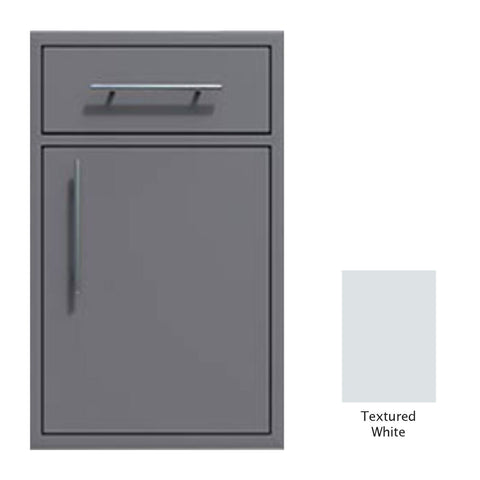 "Canyon Series 18""w by 29""h Single Door, Drawer Enclosure w/ Adj. Shelf (Right Hinge) In Textured White - CAN002-F01-RghtHng-TexturedWhite"