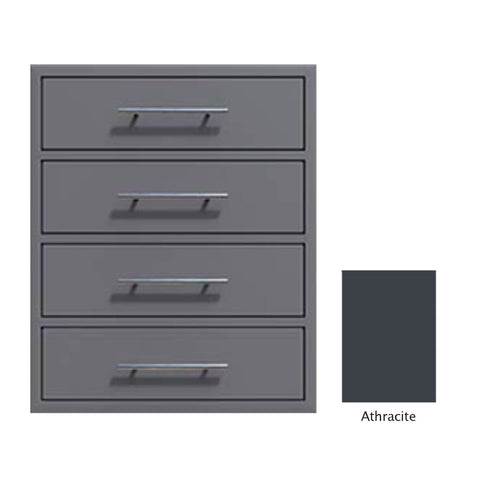 "Canyon Series 24""w by 29""h 4 Storage Drawer Enclosure, Fully-Extensible In Anthracite - CAN006-F01-Anthracite"