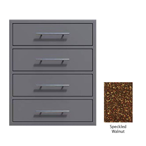 "Canyon Series 24""w by 29""h 4 Storage Drawer Enclosure, Fully-Extensible In Speckled Walnut - CAN006-F01-SpeckWalnut"