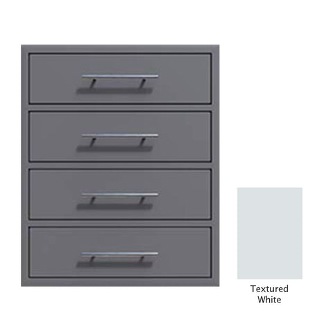 "Canyon Series 24""w by 29""h 4 Storage Drawer Enclosure, Fully-Extensible In Textured White - CAN006-F01-TexturedWhite"