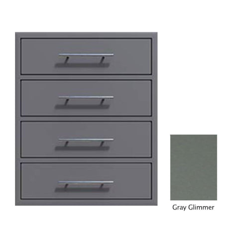 "Canyon Series 24""w by 29""h 4 Storage Drawer Enclosure, Fully-Extensible In Grey Glimmer - CAN006-F01-TexturedGreyGlimmer"