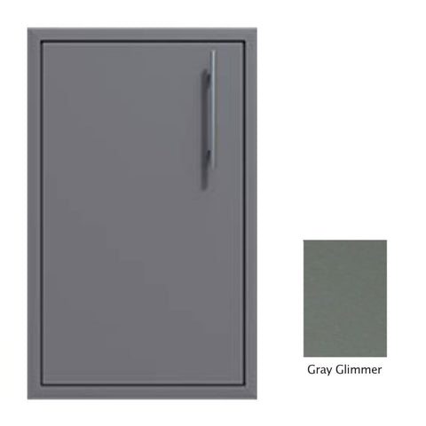 "Canyon Series 24""w by 29""h Single Door Enclosure w/ Adj. Shelf (Left Hinge) In Grey Glimmer - CAN004-F01-LftHng-TexturedGreyGlimmer"