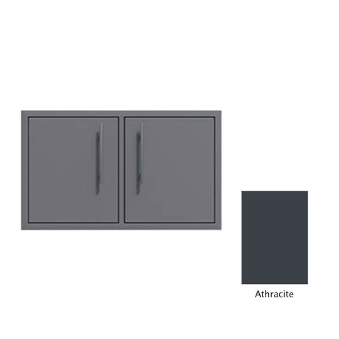 "Canyon Series 40""w by 18""h Under-Grill Double Access Door In Anthracite - CAN013-F02-Anthracite"