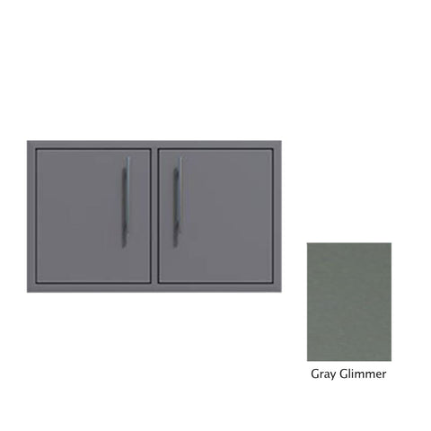 "Canyon Series 40""w by 18""h Under-Grill Double Access Door In Grey Glimmer - CAN013-F02-TexturedGreyGlimmer"