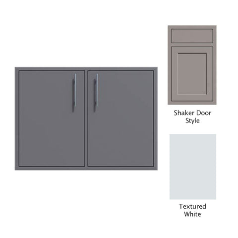 "Canyon Series Shaker Style 36""w by 29""h Double Door Enclosure w/ Adj. Shelf In Textured White - CAN0011-F01-Shaker-TexturedWhite"
