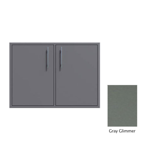 "Canyon Series 30""w by 29""h Double Door Enclosure w/ Adj. Shelf In Grey Glimmer - CAN008-F01-TexturedGreyGlimmer"