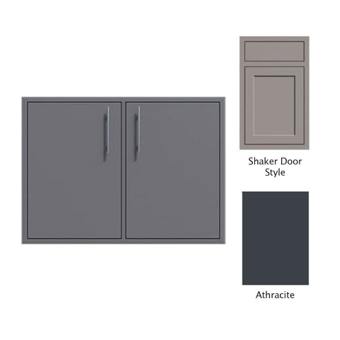 "Canyon Series Shaker Style 30""w by 29""h Double Access Door In Anthracite - CAN008-F02-Shaker-Anthracite"