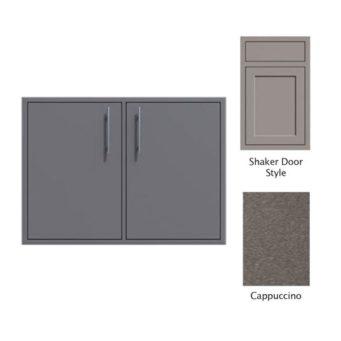 "Canyon Series Shaker Style 30""w by 29""h Double Access Door In Cappuccino - CAN008-F02-Shaker-Cappuccino"