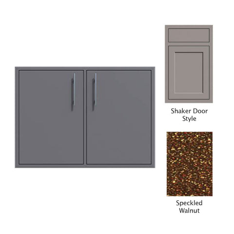"Canyon Series Shaker Style 36""w by 29""h Double Access Door In Speckled Walnut - CAN011-F02-Shaker-SpeckWalnut"