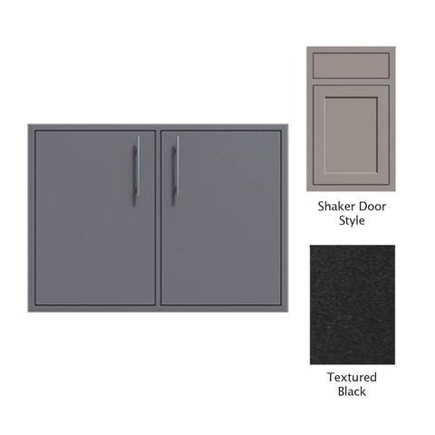 "Canyon Series Shaker Style 30""w by 29""h Double Access Door In Textured Black - CAN008-F02-Shaker-TexturedBlack"