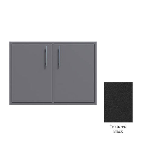 "Canyon Series 30""w by 29""h Double Access Door In Textured Black - CAN008-F02-TexturedBlack"