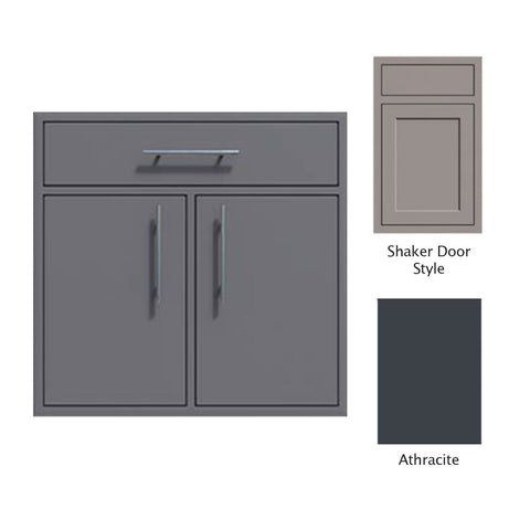 "Canyon Series Shaker Style 36""w by 29""h Double Door, Drawer Enclosure w/ Adj. Shelf In Anthracite - CAN012-F01-Shaker-Anthracite"