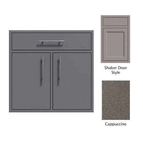 "Canyon Series Shaker Style 36""w by 29""h Double Door, Drawer Enclosure w/ Adj. Shelf In Cappuccino - CAN012-F01-Shaker-Cappuccino"