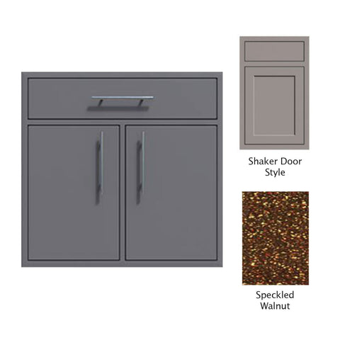 "Canyon Series Shaker Style 36""w by 29""h Double Door, Drawer Enclosure w/ Adj. Shelf In Speckled Walnut - CAN012-F01-Shaker-SpeckWalnut"