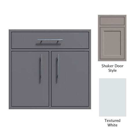 "Canyon Series Shaker Style 36""w by 29""h Double Door, Drawer Enclosure w/ Adj. Shelf In Textured White - CAN012-F01-Shaker-TexturedWhite"