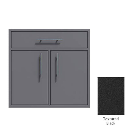 "Canyon Series 36""w by 29""h Double Door, Drawer Enclosure w/ Adj. Shelf In Textured Black - CAN012-F01-TexturedBlack"