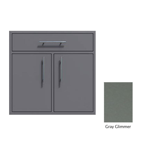 "Canyon Series 36""w by 29""h Double Door, Drawer Enclosure w/ Adj. Shelf In Grey Glimmer - CAN012-F01-TexturedGreyGlimmer"
