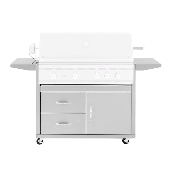 Summerset Stainless Steel Fully Assembled Door and 2 Drawer Combo Cart For 38-Inch TRL Grills (Cart Only) - CART-TRL38-DC
