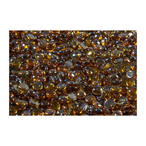 The Outdoor GreatRoom Tempered Glass Gem Media in Amber (5lb Bag) - CFG-A