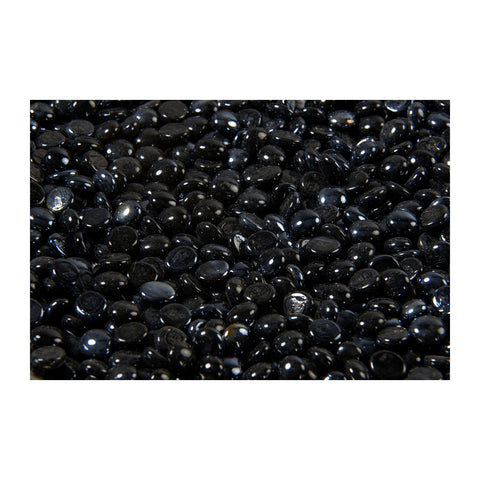 The Outdoor GreatRoom Tempered Glass Gem Media in Black Onyx (5lb Bag) - CFG-O