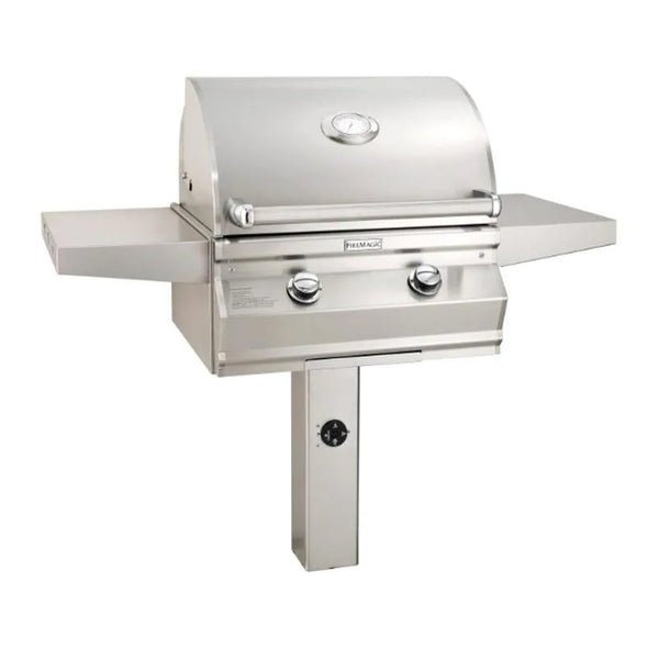 Fire Magic Choice Muilt-User C430i 24-Inch Natural Gas In-Ground Post Mounted Grill w/ Analog Thermometer - CM430S-RT1N-G6